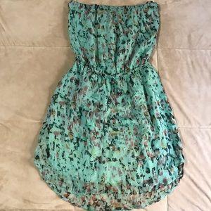 Gypsy 05 Green pattern Silk Dress Size XS